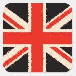 Black Union Jack (Art Style) Aufkleber