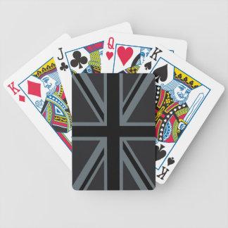 Black Union Jack British Flag Decor Bicycle Playing Cards