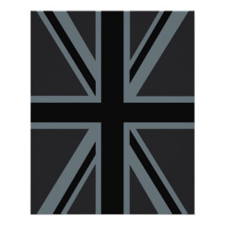 Black Union Jack British Flag Design Customize it Flyer
