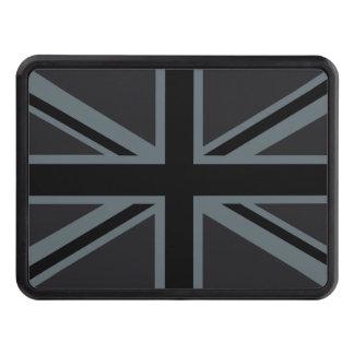 Black Union Jack British Flag Design Customize it Trailer Hitch Cover