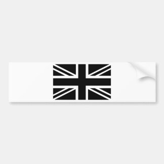 Black Union Jack British (UK) Country Flag Bumper Sticker
