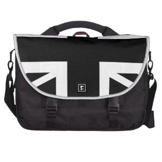Black Union Jack British (UK) Country Flag Laptop Bags