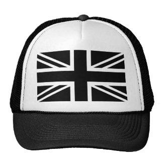 Black Union Jack British (UK) Country Flag Trucker Hat