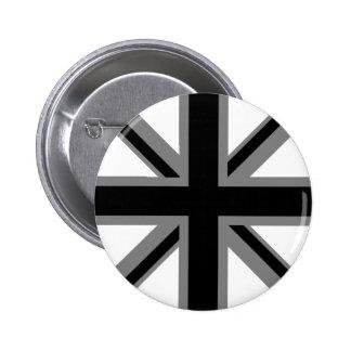 Black Union Jack Button