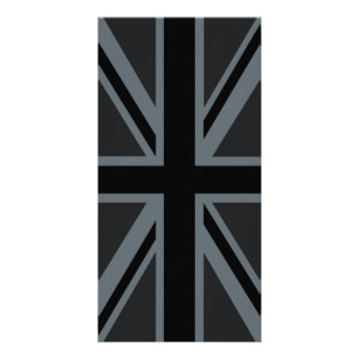 Black Union Jack Flag Design Card