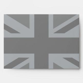 Black Union Jack Flag Design Decor Envelope