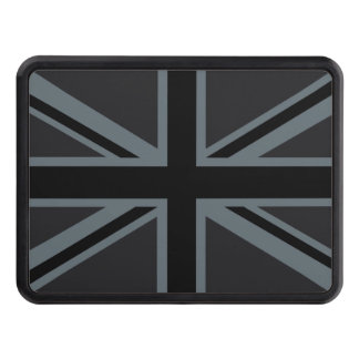 Black Union Jack Flag Design Hitch Cover