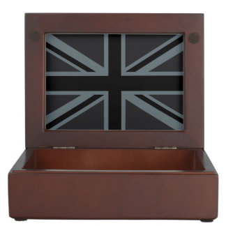 Black Union Jack Flag Design Memory Box