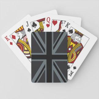 Black Union Jack Flag Design Playing Cards