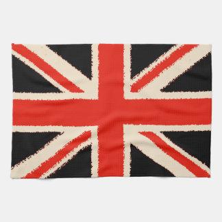 Black Union Jack (kind styles) Hand Towel
