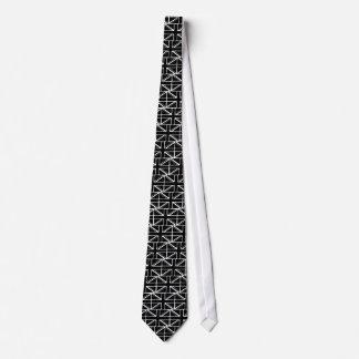 Black union jack neck tie