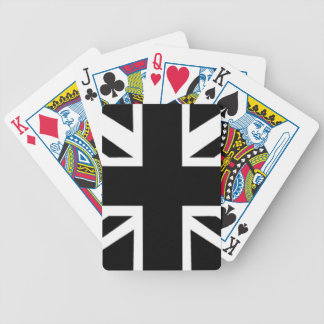 Black Union Jack Playing Cards