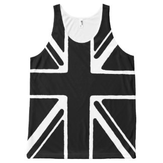 Black union Jack vests All-Over Print Tank Top