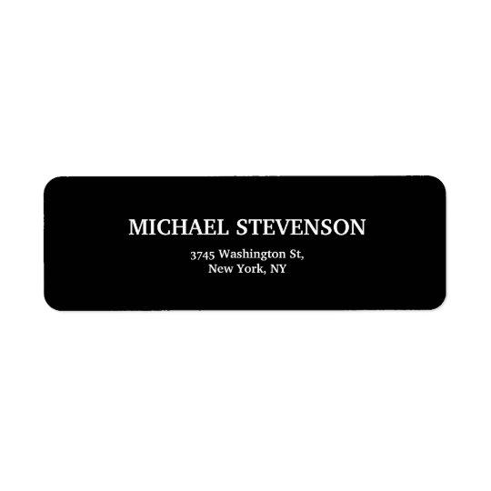 Unique Minimalist Plain Modern Label