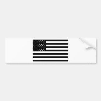 Black United States of America USA Country Flag Bumper Sticker