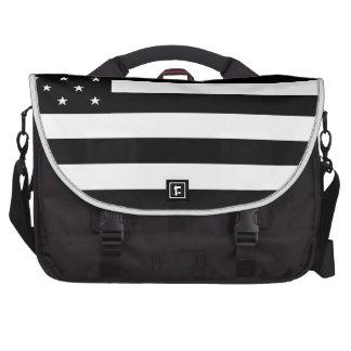 Black United States of America (USA) Country Flag Laptop Messenger Bag