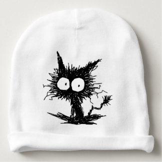 Black Unkempt Kitten GabiGabi Baby Beanie