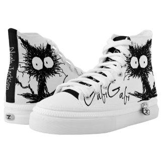 Black Unkempt Kitten GabiGabi High-Top Sneakers