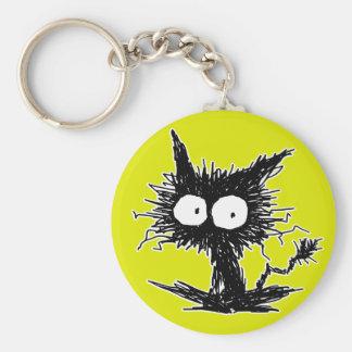 Black Unkempt Kitten GabiGabi Keychain