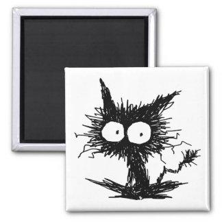 Black Unkempt Kitten GabiGabi Magnet