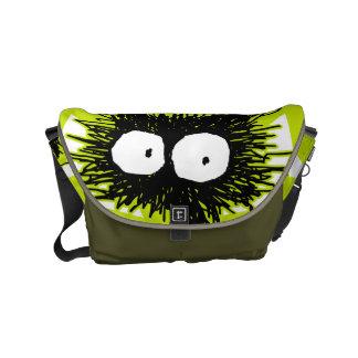 Black Unkempt Kitten GabiGabi Small Messenger Bag