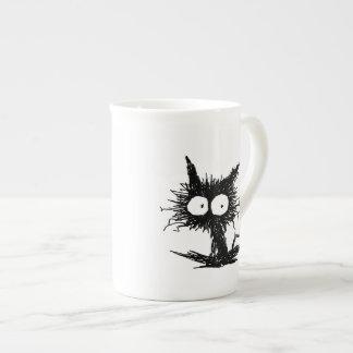 Black Unkempt Kitten GabiGabi Tea Cup