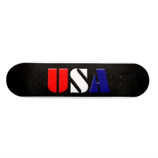 Black USA Skateboard