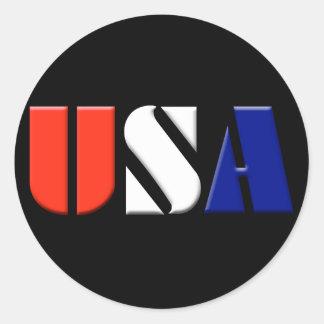 Black USA Stickers