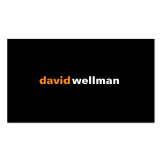 Black v Double-Sided standard business cards (Pack of 100)