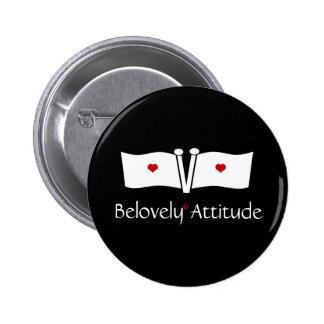Black V Love Flag Pinback Button