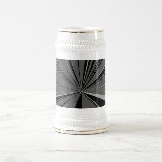 Black Vanishing Point Beer Stein 18 Oz Beer Stein