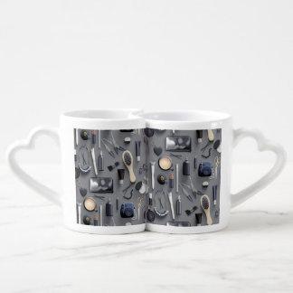 Black Vanity Table Coffee Mug Set