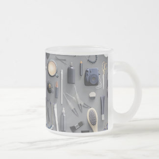 Black Vanity Table Frosted Glass Coffee Mug