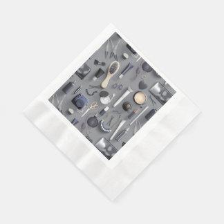 Black Vanity Table Paper Napkin