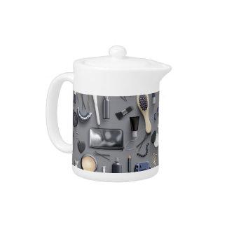 Black Vanity Table Teapot