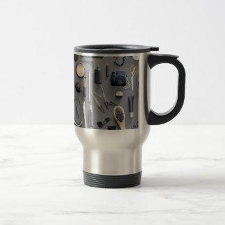 Black Vanity Table Travel Mug