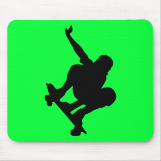 BLACK VECTOR SKATEBOARDER SPORTS FUN LOGO ICONS MOUSE PAD