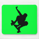 BLACK VECTOR SKATEBOARDER SPORTS FUN LOGO ICONS MOUSE PADS