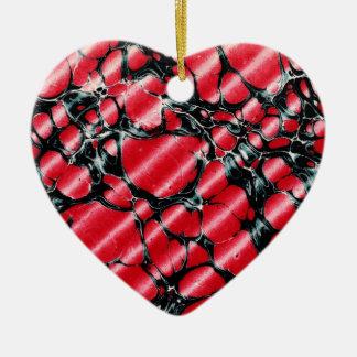 Black Veins Heart ornament