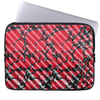 Black veins laptop case computer sleeves