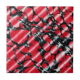 Black Veins vintage tile