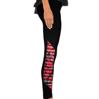 Black Veins womens leggings