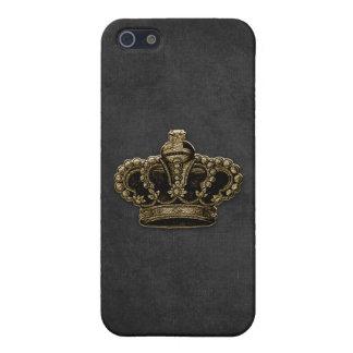 Black Velvet Gold Crown iPhone SE/5/5s Case
