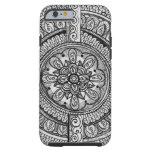 Black Velvet White Damask Dreamcatcher Mandala Art iPhone 6 Case