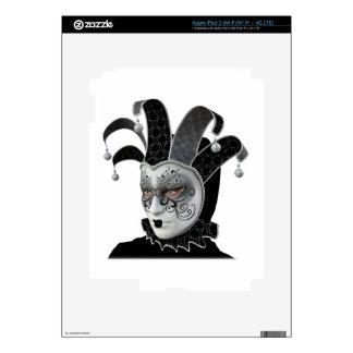 Black Venetian Carnivale Mask in Profile iPad 3 Skins