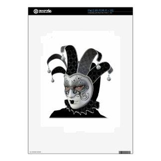 Black Venetian Carnivale Mask in Profile Skin For The iPad 2