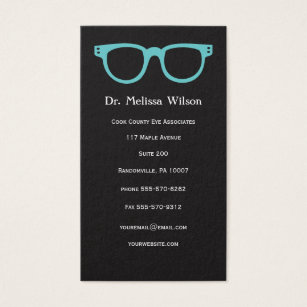 Optometrist business cards templates zazzle black vertical eye doctor optometrist glasses business card colourmoves