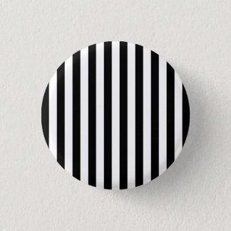 Black Vertical Stripes Button