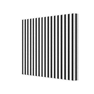 Black Vertical Stripes Canvas Print