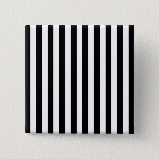 Black Vertical Stripes Pinback Button